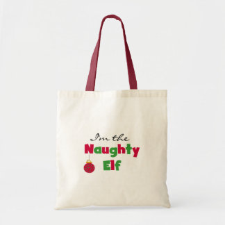 Naughty Elf Tote Bag