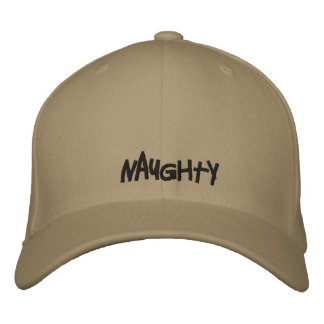 NAUGHTY EMBROIDERED HATS