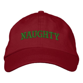 """""""Naughty"""" Embroidery Cap"""