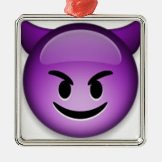 Naughty Emoji face Christmas Ornament