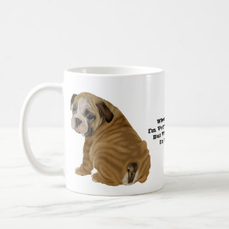 Naughty English Bulldog Puppy Coffee Mug