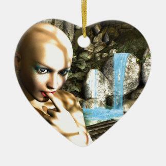 Naughty Fairy Ceramic Heart Decoration