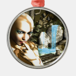 Naughty Fairy Silver-Colored Round Decoration