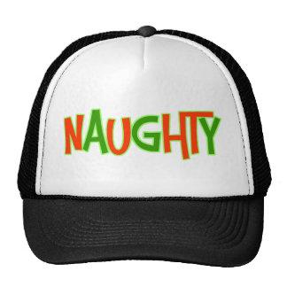Naughty Funny Christmas Mesh Hats