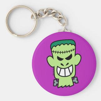 Naughty Halloween Frankenstein Basic Round Button Key Ring