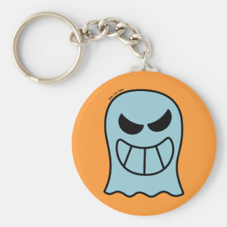 Naughty Halloween Ghost Basic Round Button Key Ring