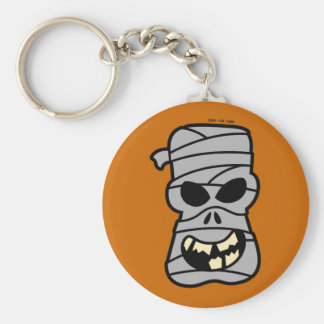 Naughty Halloween Mummy Basic Round Button Key Ring