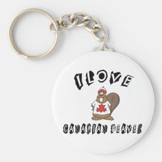 Naughty I Love Canadian Beaver Key Ring