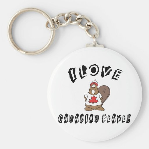 Naughty I Love Canadian Beaver Key Chain