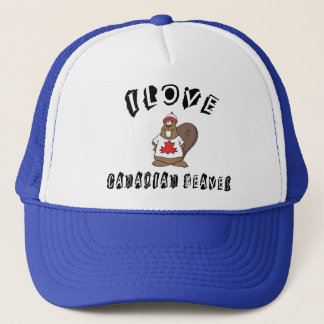 Naughty I Love Canadian Beaver Trucker Hat