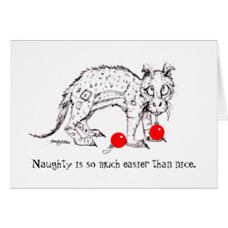 Naughty is Easier than Nice Holiday Card