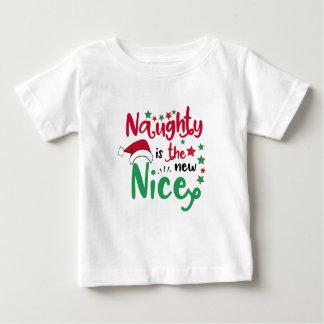 Naughty is the new nice christmas baby T-Shirt