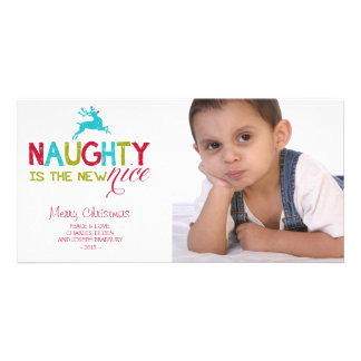 Naughty is the New Nice Christmas Personalized Photo Card