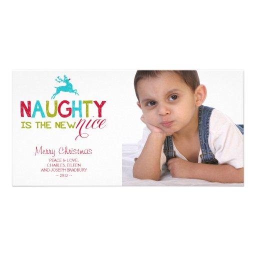 Naughty is the New Nice Christmas Customized Photo Card