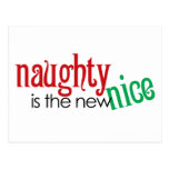 Naughty is the new Nice Postcard