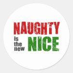 Naughty is the New Nice Round Sticker