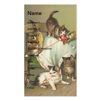 Naughty Kittens Business Cards