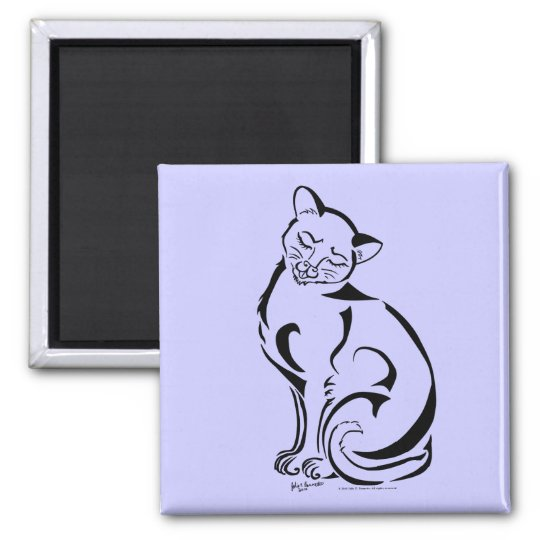 Naughty Kitty (No Text) Square Magnet