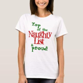 Naughty List, Adult T-Shirt