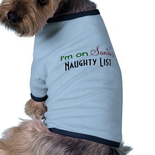 Naughty List  Blue Christmas Pet Clothing