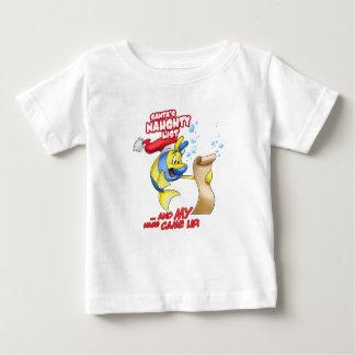 Naughty list cartoon t-shirts