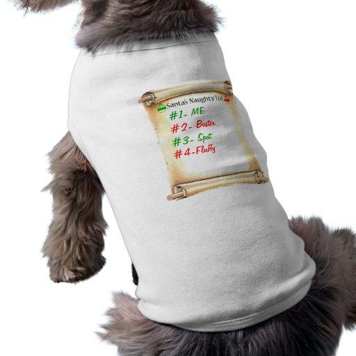 Naughty List Pet Tshirt