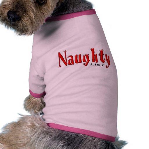 Naughty List Doggie T Shirt
