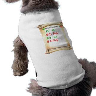 Naughty List Sleeveless Dog Shirt