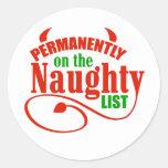 Naughty List Stickers