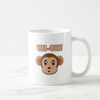 Naughty Monkey Basic White Mug