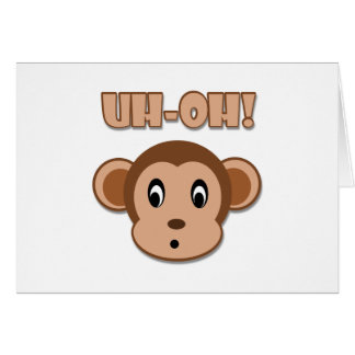 Naughty Monkey Greeting Card