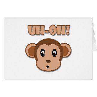 Naughty Monkey Greeting Card