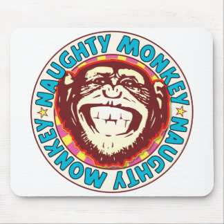 Naughty Monkey Mouse Pad