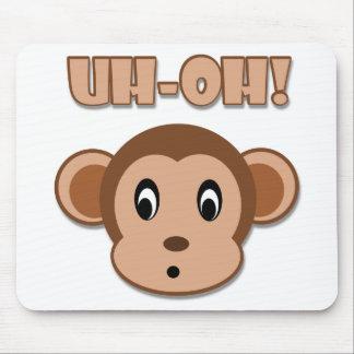 Naughty Monkey Mouse Pad