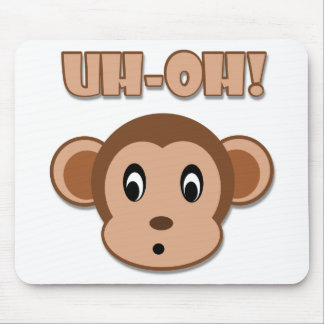 Naughty Monkey Mouse Pads