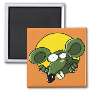 naughty mouse looking to us funny cartoon magnet