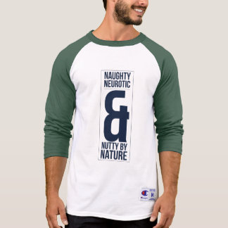 Naughty Neurotic & Nutty by Nature Mens 3/4 Sleeve T-Shirt