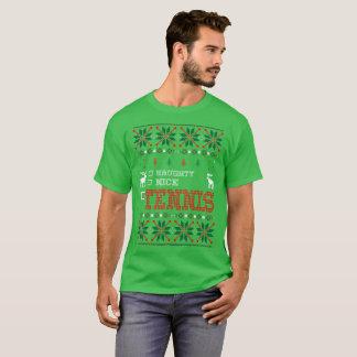 Naughty Nice Tennis Christmas Ugly Sweater Tshirt