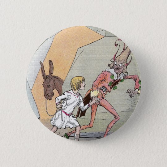 Naughty Nome in the Caverns 6 Cm Round Badge
