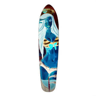 Naughty Nox Sailor Pro Long Board 21.3 Cm Mini Skateboard Deck