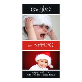 Naughty of Nice? Customized Photo Card