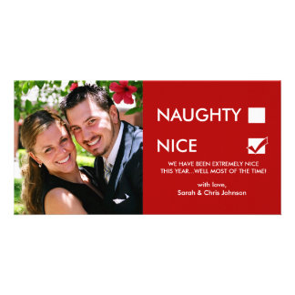 Naughty of Nice Personalized Photo Card