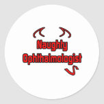 Naughty Ophthalmologist Round Sticker
