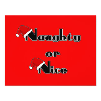 Naughty or Nice 11 Cm X 14 Cm Invitation Card