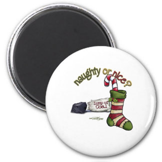 Naughty or Nice 6 Cm Round Magnet