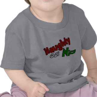 Naughty Or Nice? Baby Clothes Shirts