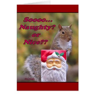 Naughty or Nice? Greeting Card