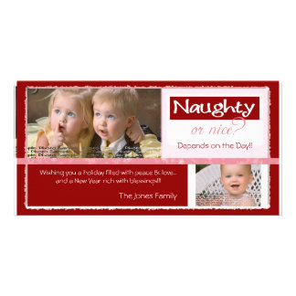 Naughty or Nice   ~   Christmas Card Photo Card Template