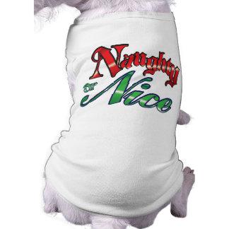 Naughty or Nice Christmas Dog t-shirt