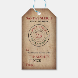 Naughty or Nice Christmas Gift Tags